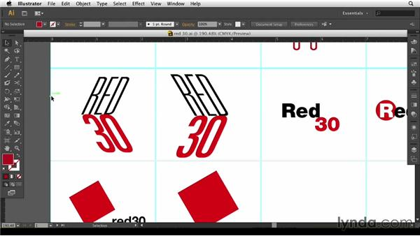 Developing ideas in Illustrator: Designing a Logo for a Media Company