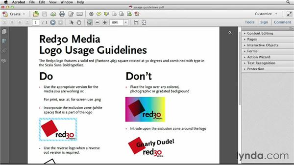 Creating usage guidelines: Designing a Logo for a Media Company