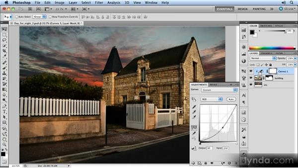 Adding the adjustment layer: Photoshop Artist in Action: Steve Caplin's Day for Night
