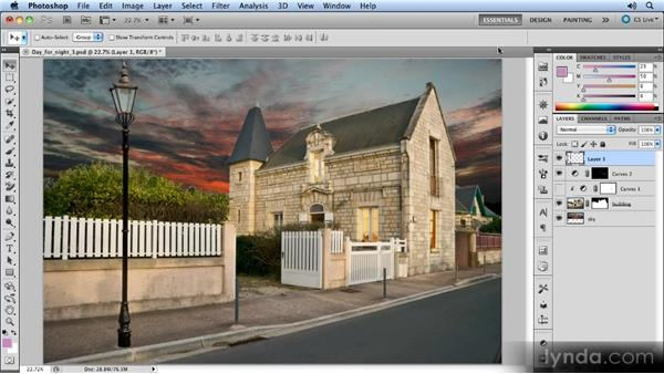 Scaling the lamp: Photoshop Artist in Action: Steve Caplin's Day for Night