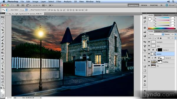 Scaling the figure: Photoshop Artist in Action: Steve Caplin's Day for Night