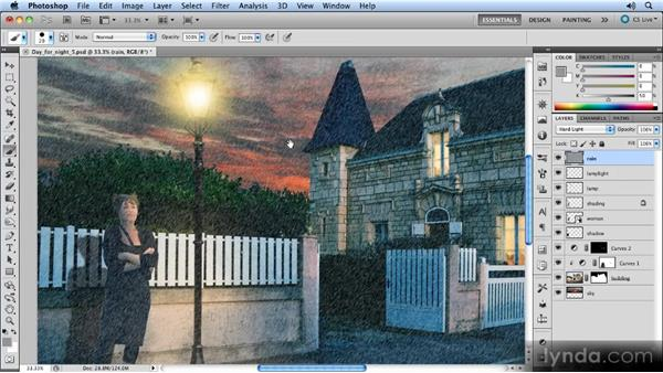 Creating the basic texture: Photoshop Artist in Action: Steve Caplin's Day for Night