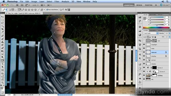 Completing the coat: Photoshop Artist in Action: Steve Caplin's Day for Night