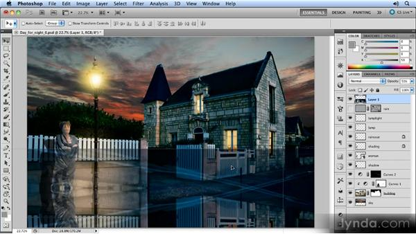 Flipping the entire image: Photoshop Artist in Action: Steve Caplin's Day for Night