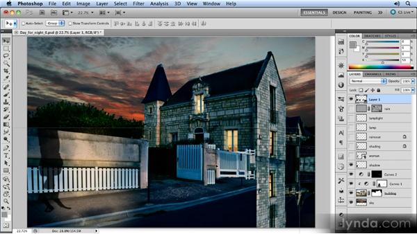 Flipping the front section: Photoshop Artist in Action: Steve Caplin's Day for Night