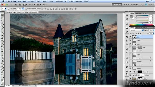 Flipping the side of the building: Photoshop Artist in Action: Steve Caplin's Day for Night