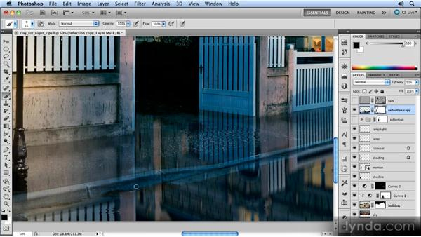 Adding a layer mask: Photoshop Artist in Action: Steve Caplin's Day for Night