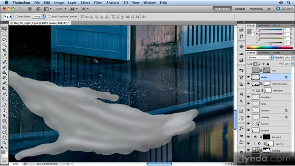 Adding shine with Plastic Wrap: Photoshop Artist in Action: Steve Caplin's Day for Night