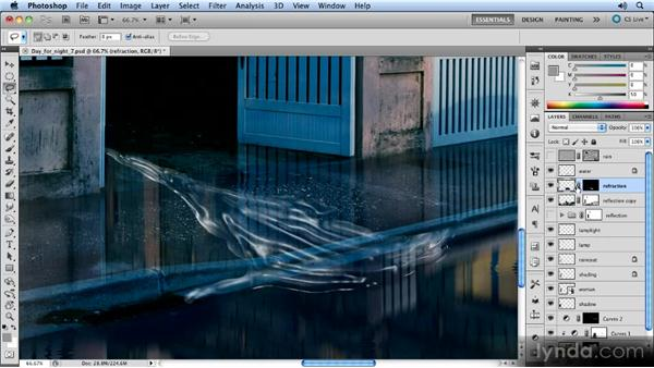 Distorting the view through the water: Photoshop Artist in Action: Steve Caplin's Day for Night