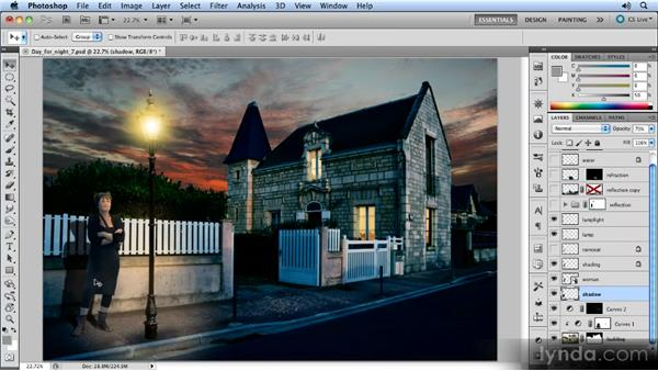 Examining the montage: Photoshop Artist in Action: Steve Caplin's Day for Night