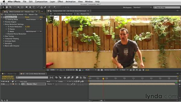 Removing noise: After Effects Artist in Action: Eran Stern's Personal Transporter