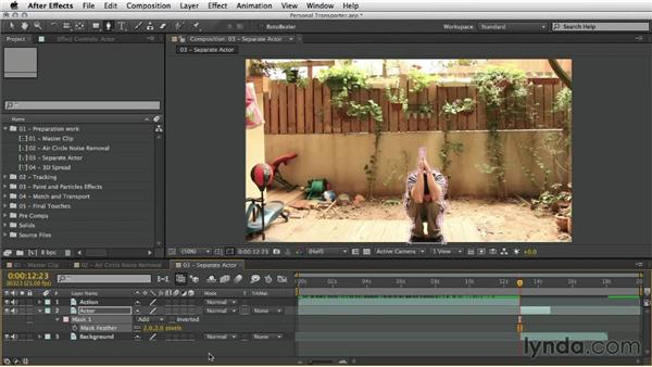 Separating the actor from the background: After Effects Artist in Action: Eran Stern's Personal Transporter