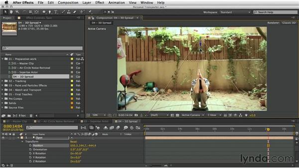 Organizing the layer in 3D space and relighting the scene: After Effects Artist in Action: Eran Stern's Personal Transporter