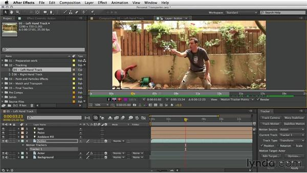 Tracking the left hand: After Effects Artist in Action: Eran Stern's Personal Transporter