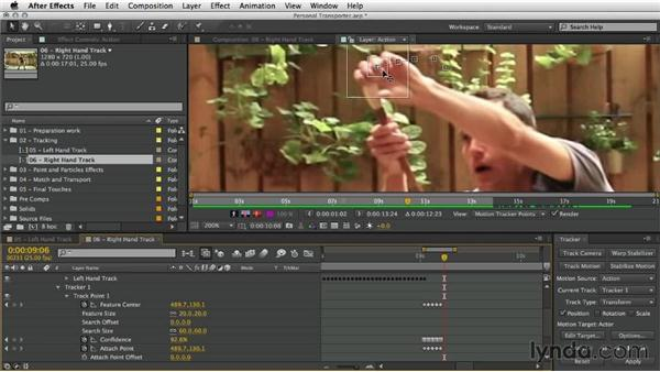 Tracking the right hand: After Effects Artist in Action: Eran Stern's Personal Transporter
