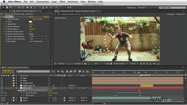 Designing the write-on look: After Effects Artist in Action: Eran Stern's Personal Transporter
