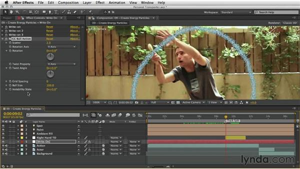 Creating energy particles: After Effects Artist in Action: Eran Stern's Personal Transporter