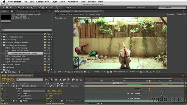 Particle circle motion control: After Effects Artist in Action: Eran Stern's Personal Transporter