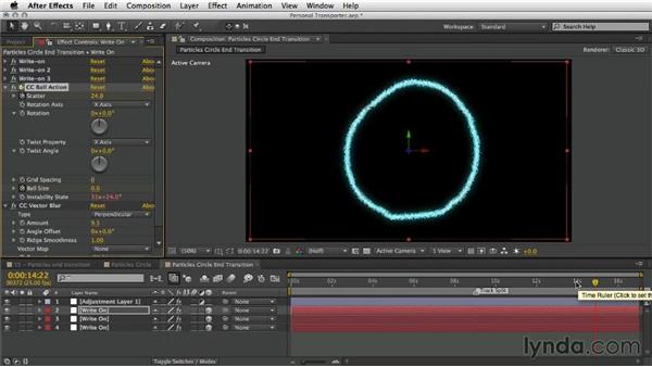 Creating the end transition: After Effects Artist in Action: Eran Stern's Personal Transporter