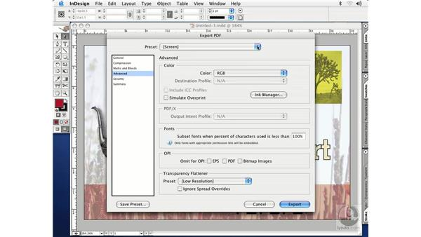 PDF files: InDesign CS Essential Training