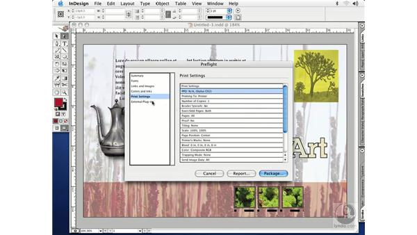 package files: InDesign CS Essential Training