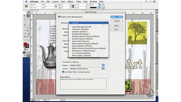 color settings: InDesign CS Essential Training