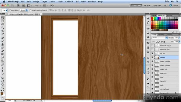 Finishing the door: Creating a Hallway Scene with Photoshop
