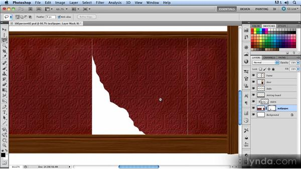 Tearing the wallpaper: Creating a Hallway Scene with Photoshop