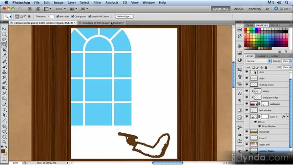 Adding the figure: Creating a Hallway Scene with Photoshop
