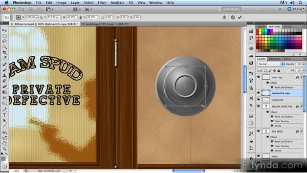Drawing the light switch: Creating a Hallway Scene with Photoshop