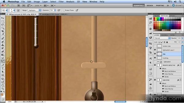 Adding the trunking: Creating a Hallway Scene with Photoshop