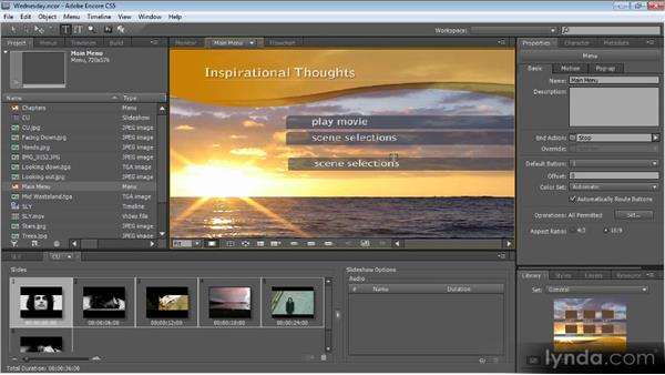The DVD authoring workflow: Up and Running with Encore CS5
