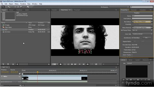 Linking everything together: Up and Running with Encore CS5