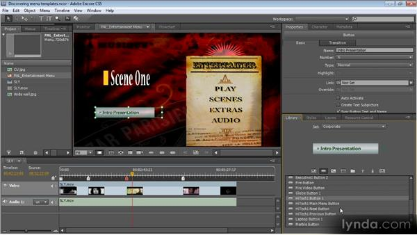 Using menu templates: Up and Running with Encore CS5