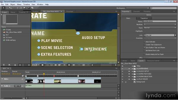 Editing tools for text and graphics: Up and Running with Encore CS5