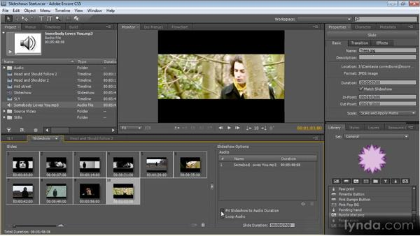 Slideshows: Up and Running with Encore CS5