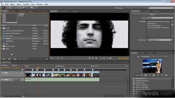 Playlists and chapter playlists: Up and Running with Encore CS5