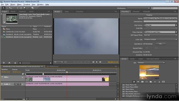 Dynamic Link with Premiere Pro: Up and Running with Encore CS5