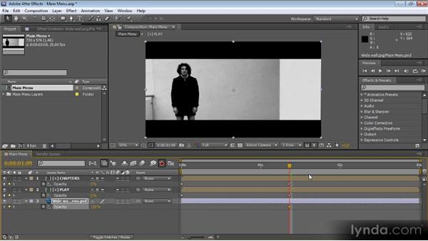 Creating menu transitions with After Effects: Up and Running with Encore CS5