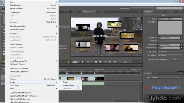 Previewing your DVD: Up and Running with Encore CS5