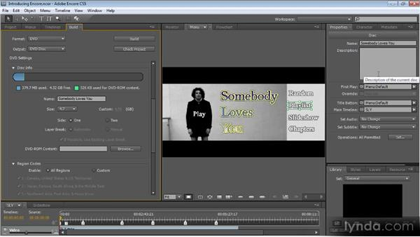 Outputting to DVD and Blu-ray: Up and Running with Encore CS5