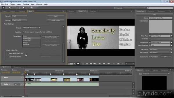 Outputing to the web: Up and Running with Encore CS5