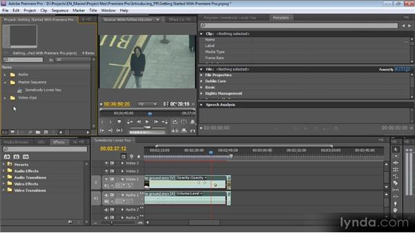 Adobe interface fundamentals: Getting Started with Premiere Pro CS5