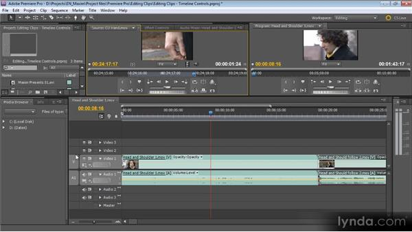 Timeline controls: Getting Started with Premiere Pro CS5