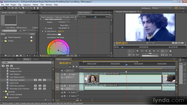 Adding, removing, and working with effects: Getting Started with Premiere Pro CS5