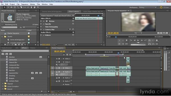 Rendering: Getting Started with Premiere Pro CS5