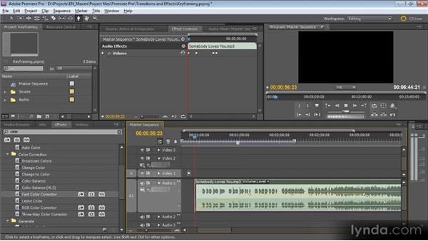 Keyframing made simple: Getting Started with Premiere Pro CS5