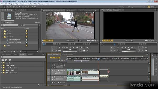 Nesting, autonesting, and working with nested sequences: Getting Started with Premiere Pro CS5