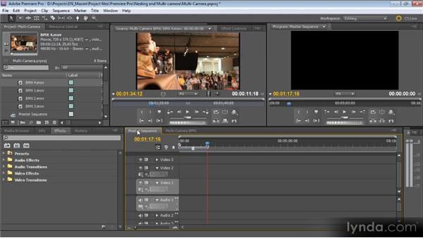 Multicamera editing in seconds: Getting Started with Premiere Pro CS5