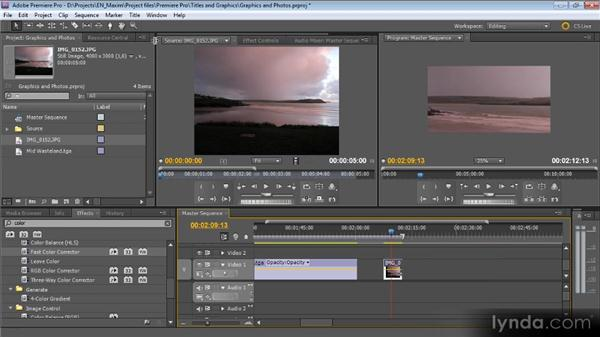 Graphics, photos, and Photoshop: Getting Started with Premiere Pro CS5